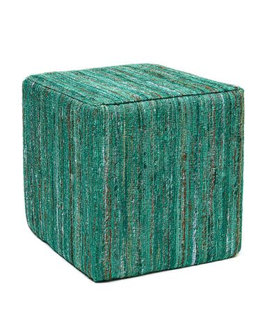 Anji Mountain Emerald Saree Pouf- Square - KINGDOM RUGS - 1