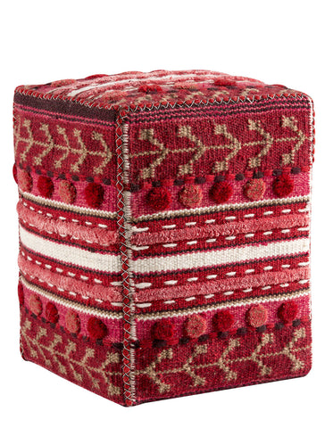 MAT The Basics Abramo Red Pouf - KINGDOM RUGS