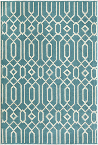 Momeni BAJ-3 Blue Area Rugs - KINGDOM RUGS