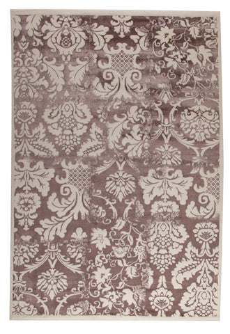 MAT Orange Baroque Brown Area Rugs - KINGDOM RUGS - 1