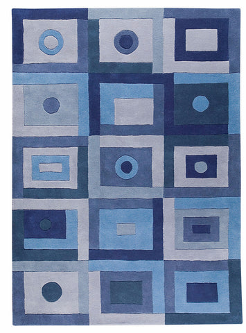 MAT The Basics Berlin Blue Area Rug - KINGDOM RUGS - 1
