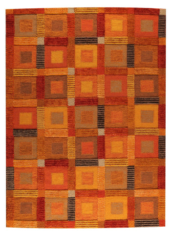 MAT The Basics Big Box Orange Area Rug - KINGDOM RUGS - 1
