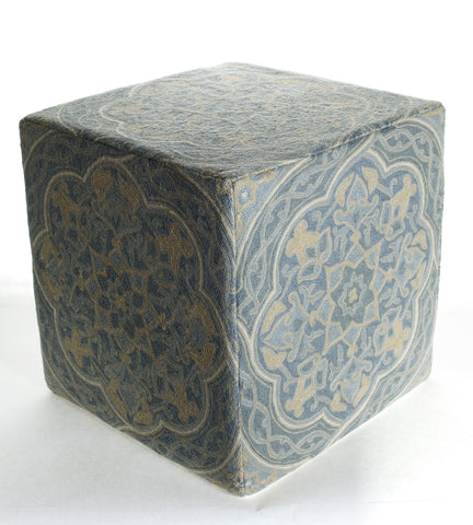 Momeni CSO10 Blue Chainstitch Ottoman - KINGDOM RUGS