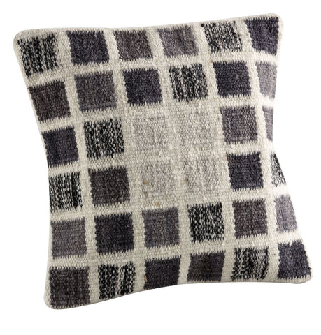 MAT The Basics Dominico White Grey Cushions - KINGDOM RUGS
