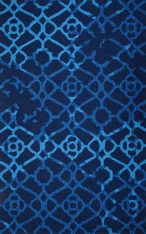 MAT Orange Heritage Blue Area Rug - KINGDOM RUGS - 1