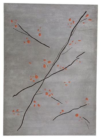 MAT The Basics Inari Grey Orange Area Rug - KINGDOM RUGS - 1
