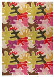 MAT Orange Jigsaw Pink Multi Area Rug - KINGDOM RUGS - 1
