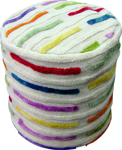 MAT The Basics Khema5 Multi Pouf - KINGDOM RUGS