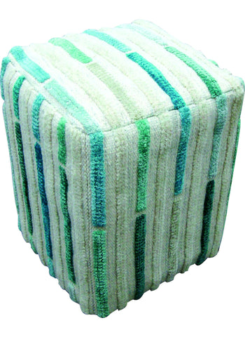 MAT The Basics Khema5 Turquoise Pouf - KINGDOM RUGS