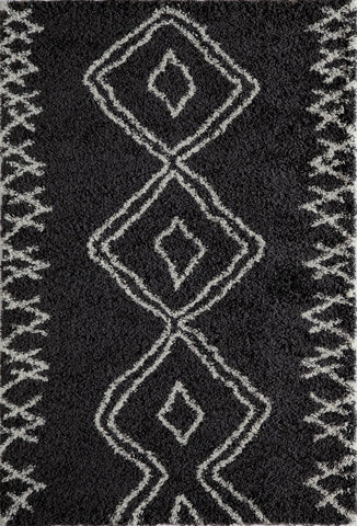 Momeni 42491 Black Area Rugs - KINGDOM RUGS
