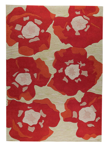 MAT The Basics Poppy Orange Area Rug - KINGDOM RUGS - 1