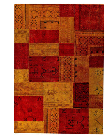 MAT Vintage Renaissance Red Orange Area Rug - KINGDOM RUGS - 1