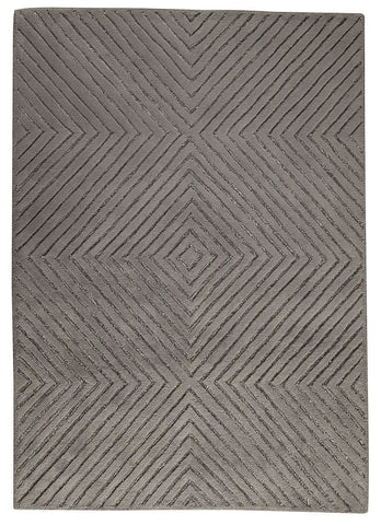 MAT Orange Union Square Grey Area Rug - KINGDOM RUGS - 1