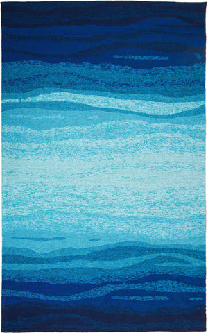 MAT Orange Vista Blue Turquoise Area Rug - KINGDOM RUGS - 1