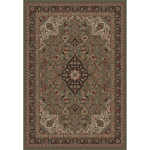 Concord Global Trading Persian Medallion Kashan Green Area Rug - KINGDOM RUGS