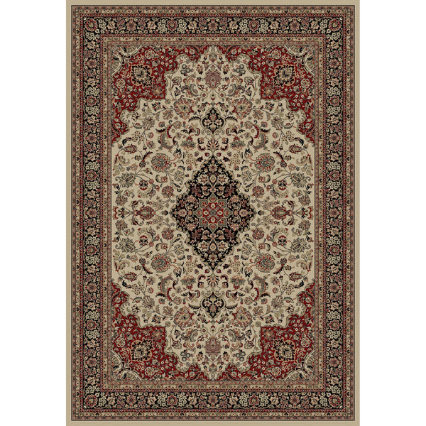 Concord Global Trading Persian Medallion Kashan Ivory Area Rug - KINGDOM RUGS