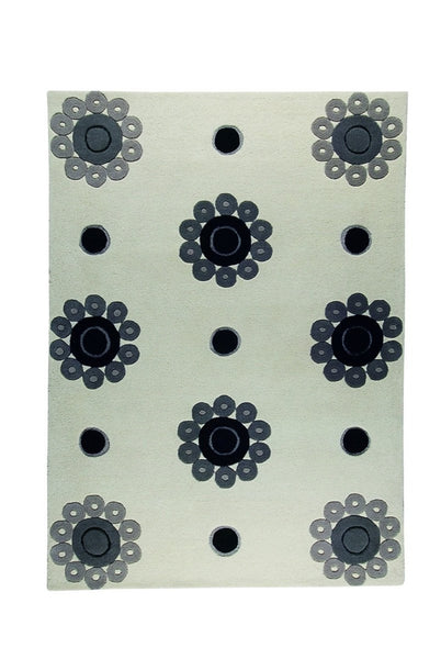 MAT The Basics Como White/Grey Area Rugs - KINGDOM RUGS