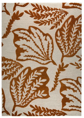 MAT The Basics Leaf Rust Area Rugs - KINGDOM RUGS