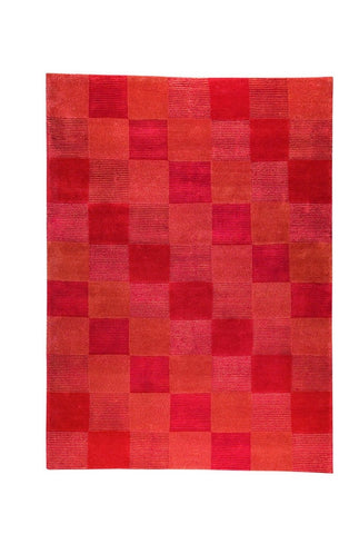MAT The Basics Check Orange Area Rugs - KINGDOM RUGS