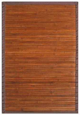 Anji Mountain Contemporary Chocolate Bamboo Area Rug - KINGDOM RUGS
