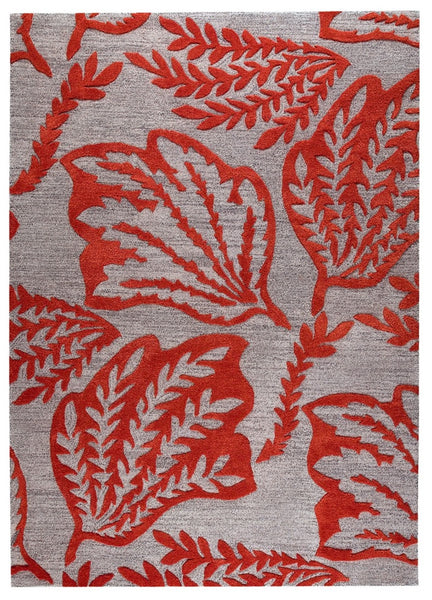 MAT The Basics Leaf Red Area Rugs - KINGDOM RUGS