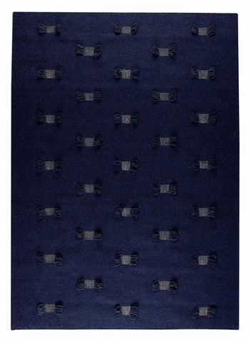 MAT The Basics Napoli Charcoal/Blue Area Rugs - KINGDOM RUGS