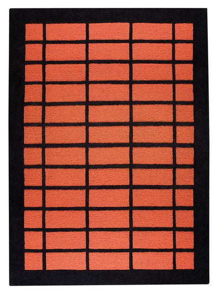 MAT The Basics New York Rust/Charcoal Area Rugs - KINGDOM RUGS