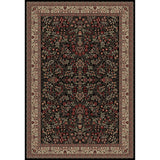 Concord Global Trading Persian Sarouk Black Area Rug - KINGDOM RUGS - 1