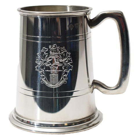 Institute of Quarrying Tankard with the crest engraved on it.