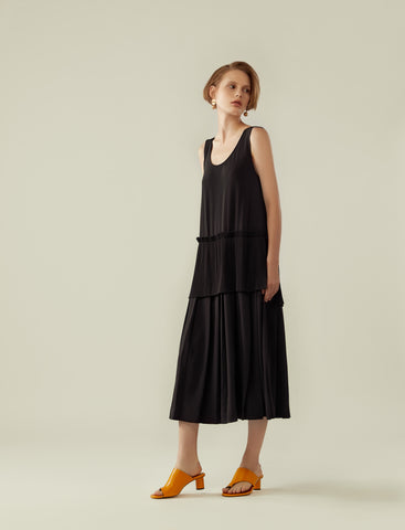 layered soft pleated dress