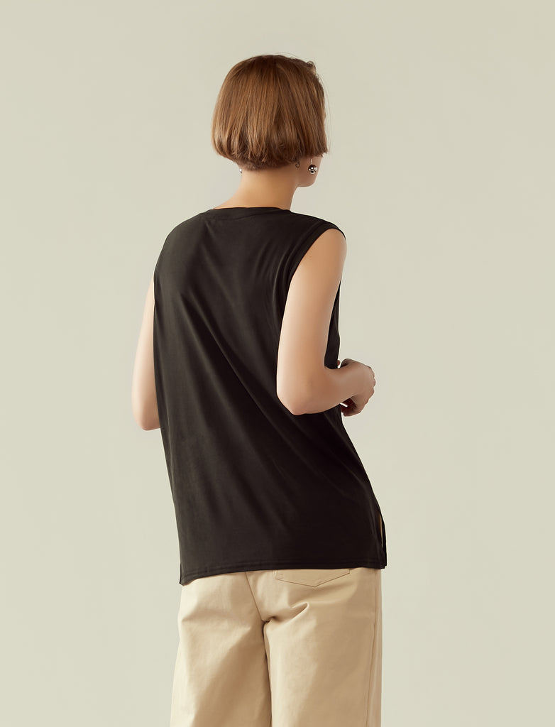 classic muscle tee- black