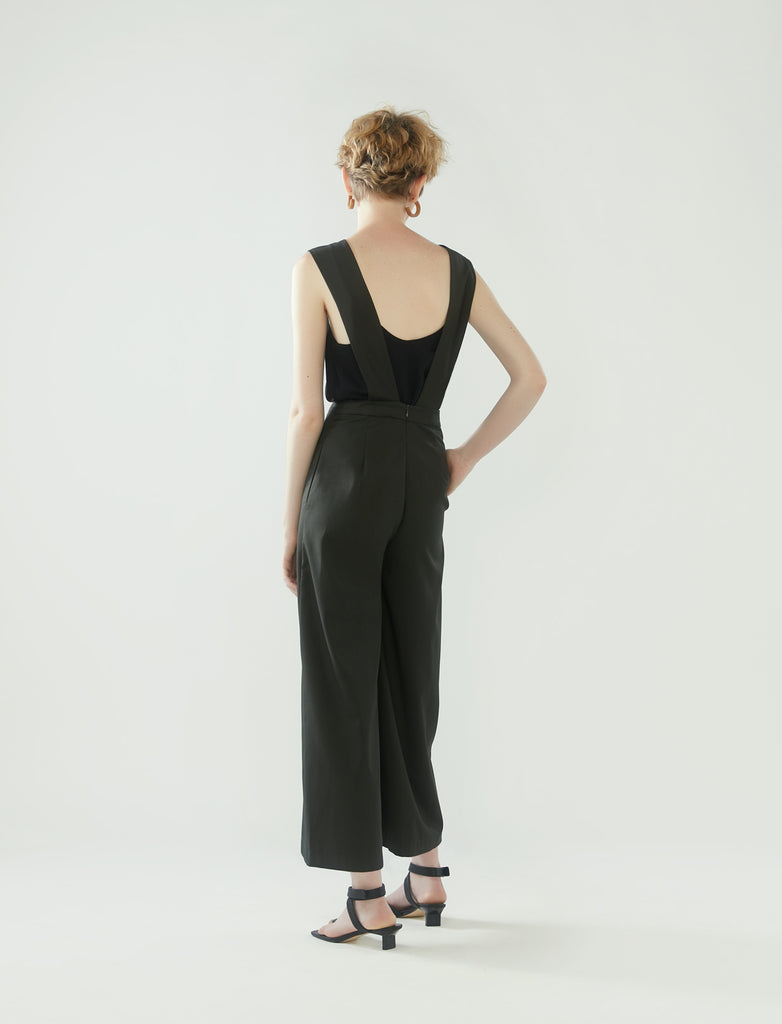 pinafore jumpsuit - pine green