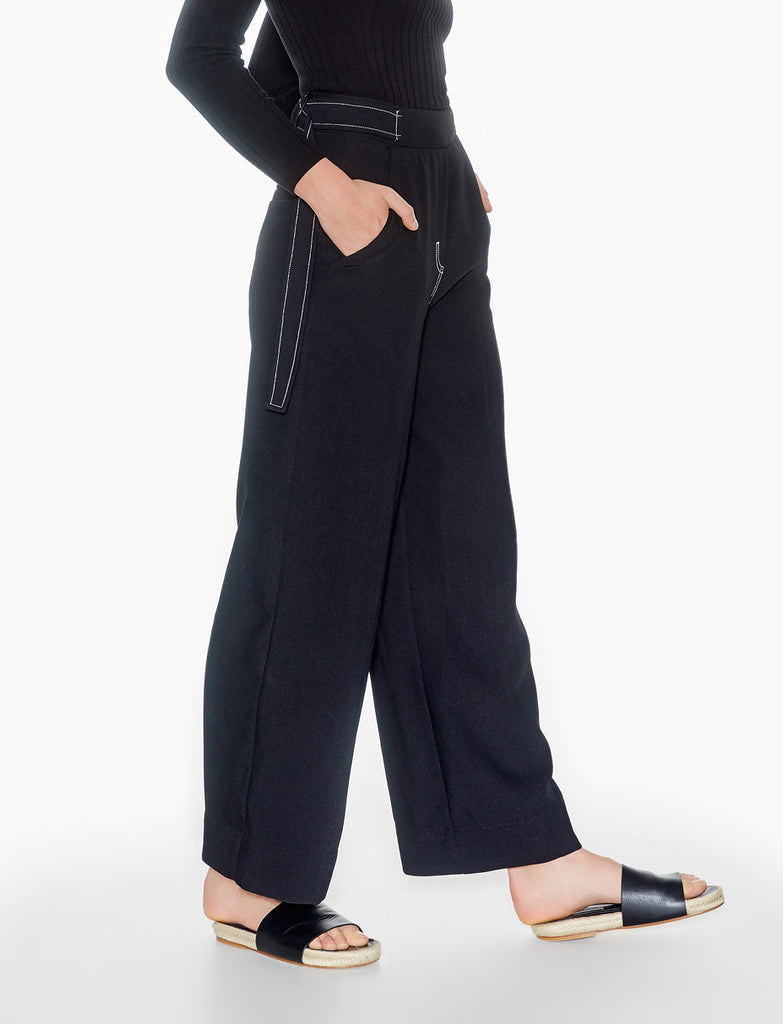 contrast stitch trousers