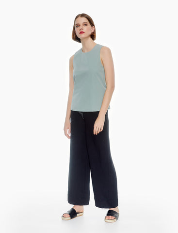 staple sleeveless top - sage green