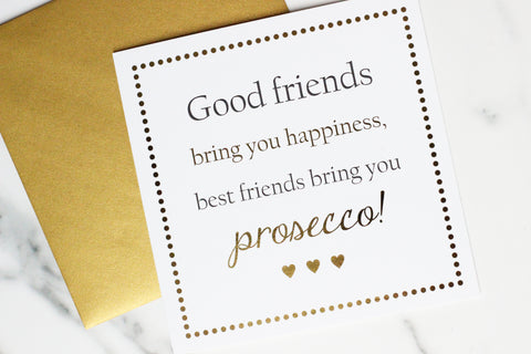 Prosecco Greetings Card