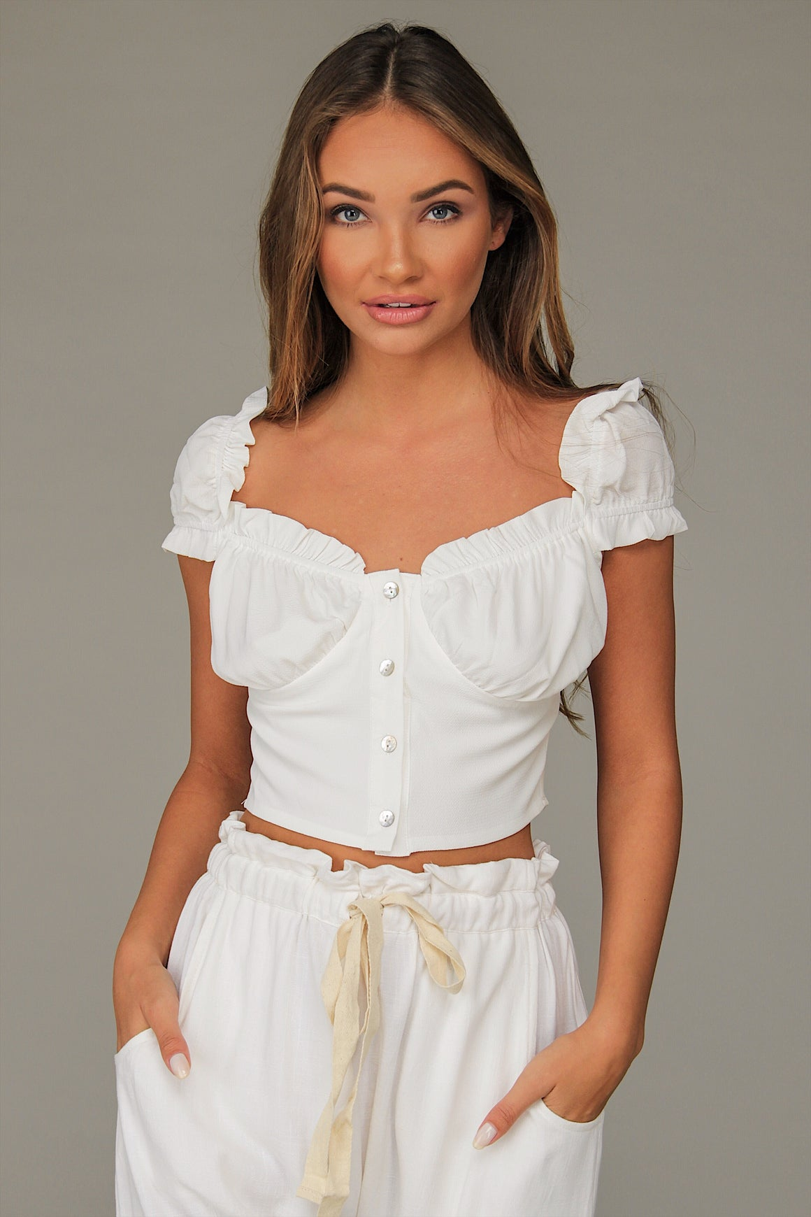 Darcy Crop Top White