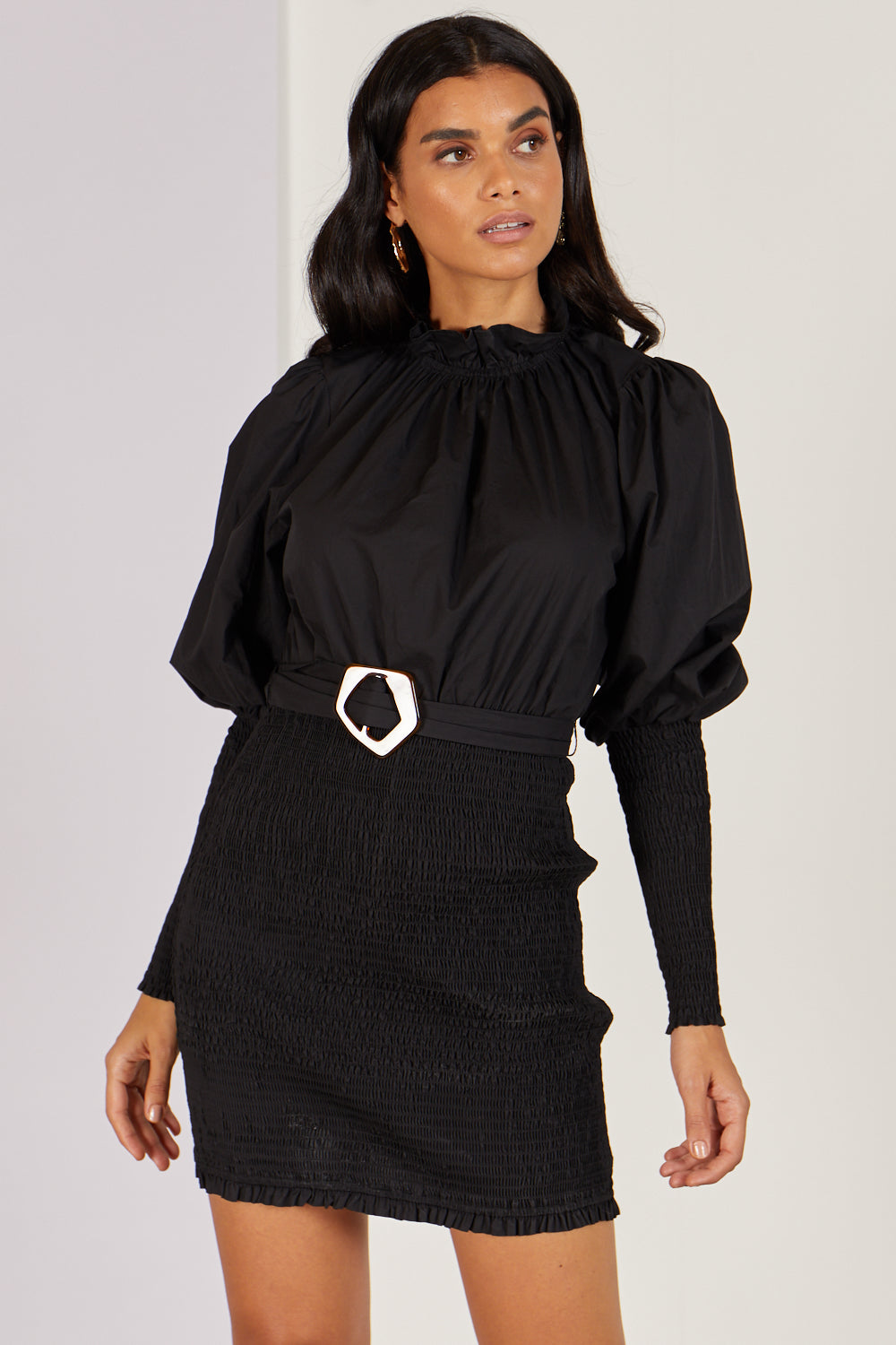 Sophie High Neck Black Dress
