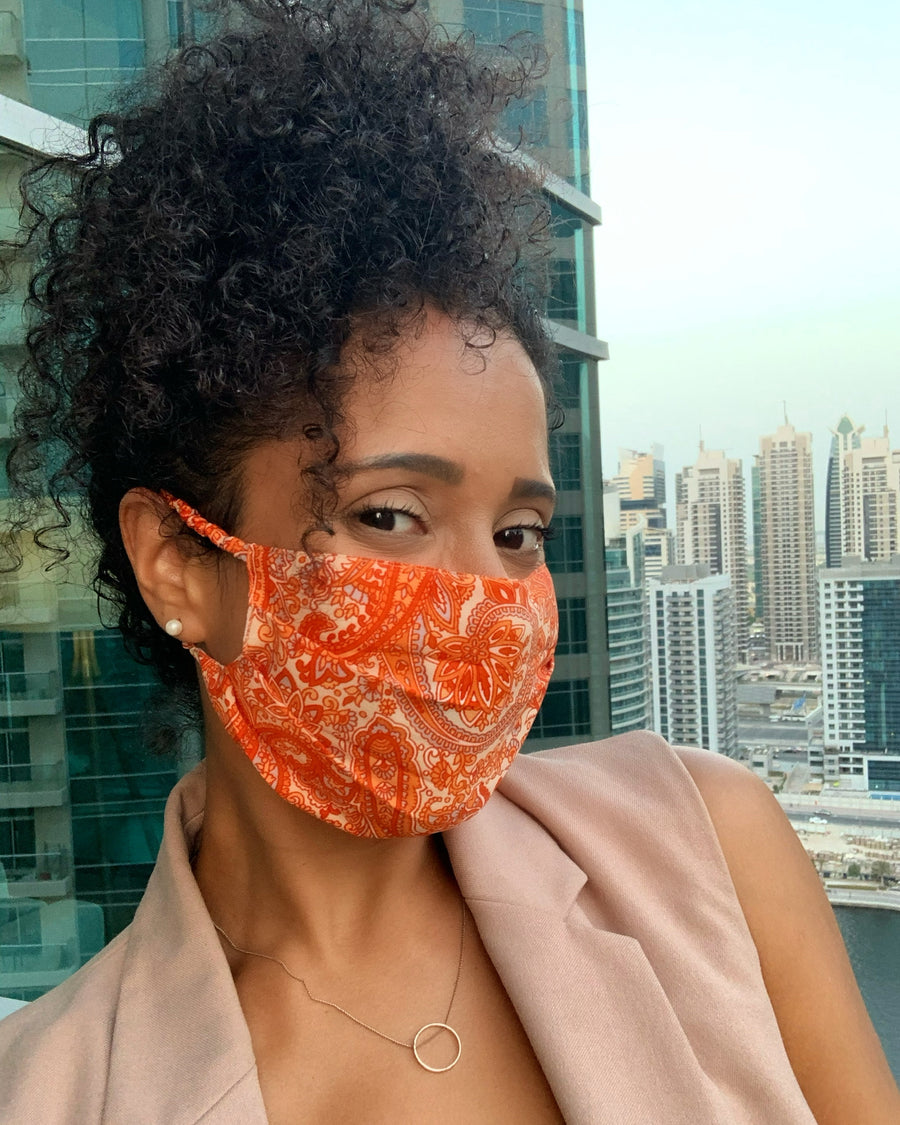 Nadia Loves Orange Groovy Chick Face Mask