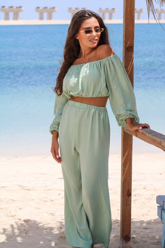 CAFE SAND Nassau Pants Green