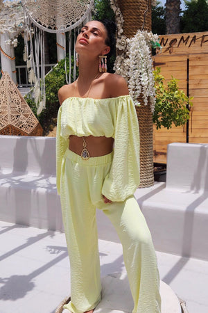 CAFE SAND Nassau Pants Yellow