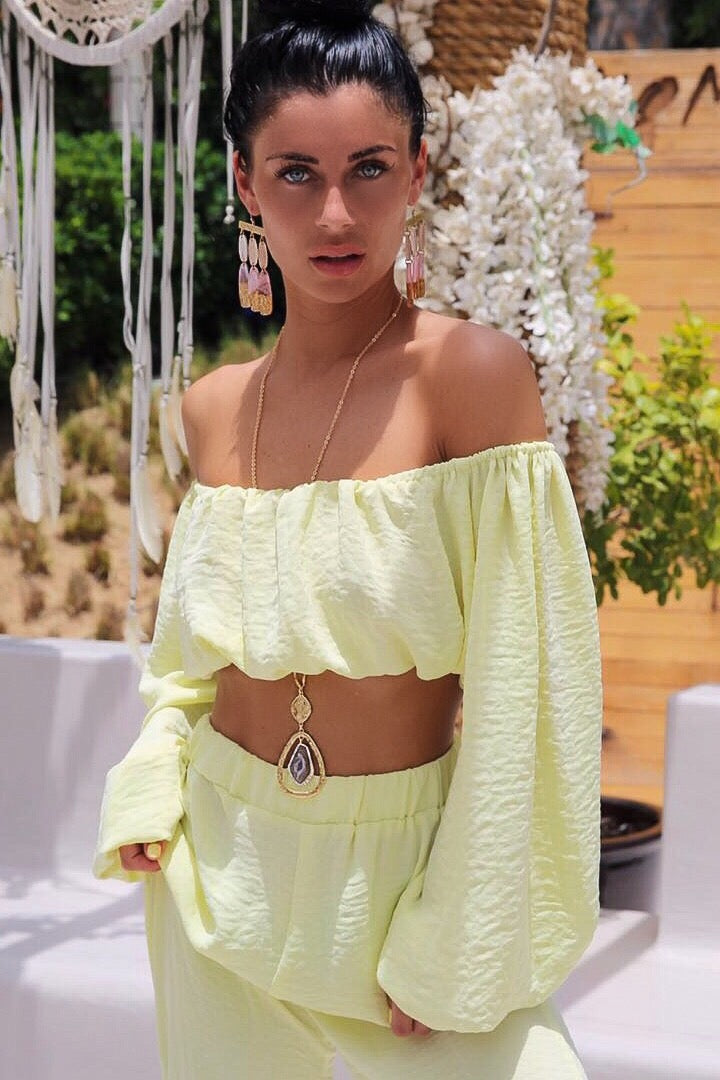 CAFE SAND Praia Top Yellow