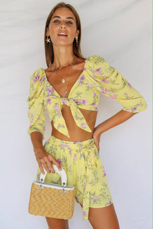 Laguna Love Floral Co-ord Lemon