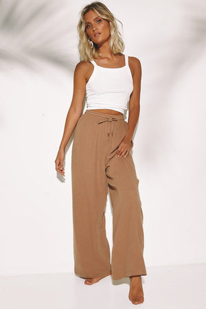 SUNDAYS THE LABEL Roma Pants Tan
