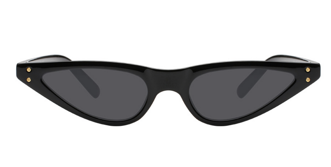 Super Slim Cat Eye Sunglasses Black