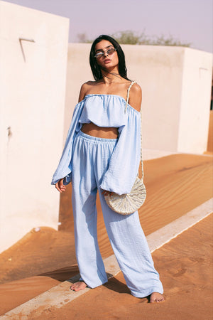 CAFE SAND Nassau Pants Blue