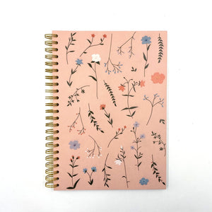 Prickly Pear Floral A4 PU Notebook