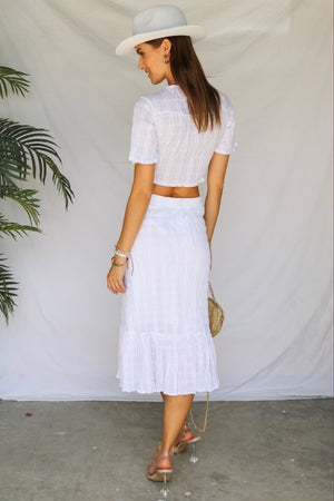 You, Me, Sunshine Top White Co-ord