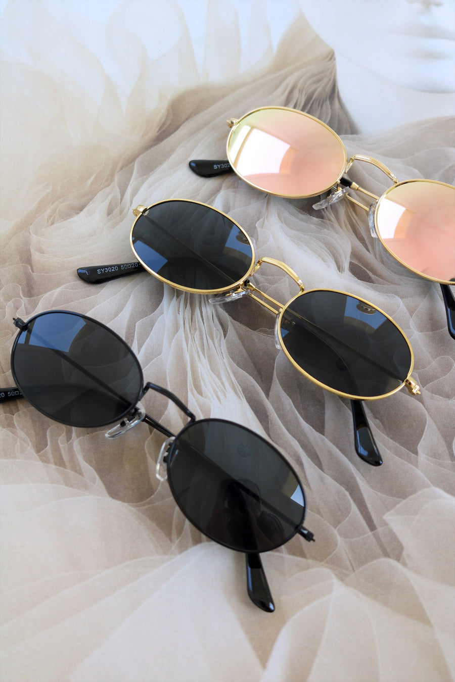 Get Oval It Sunglasses Rose Gold