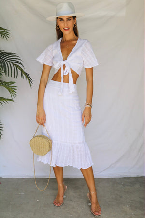 You, Me, Sunshine Skirt White Co-ord