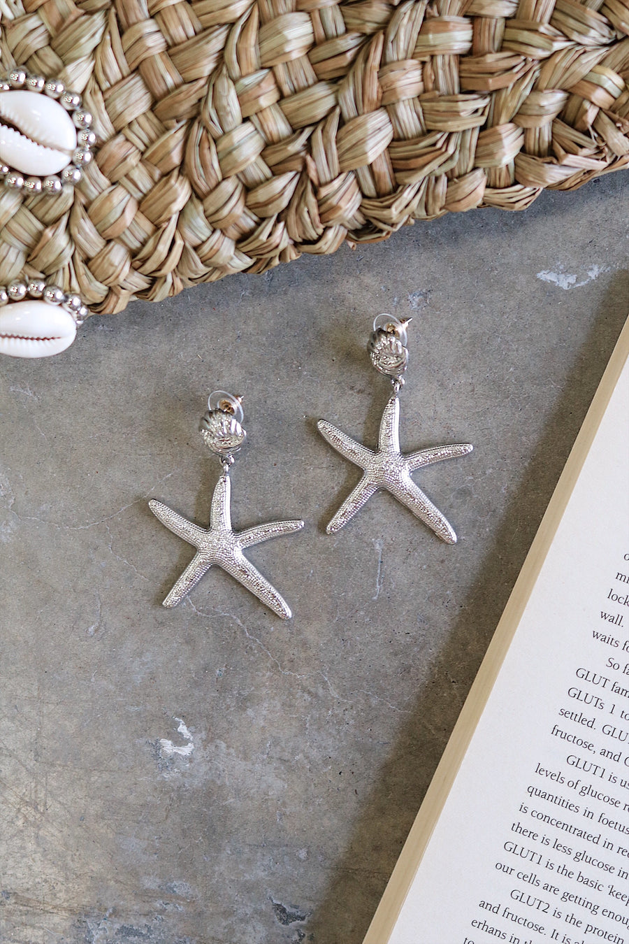 Twinkle Starfish Earrings Silver